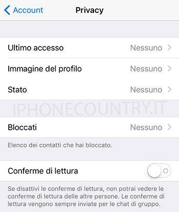 Privacy WhatsApp