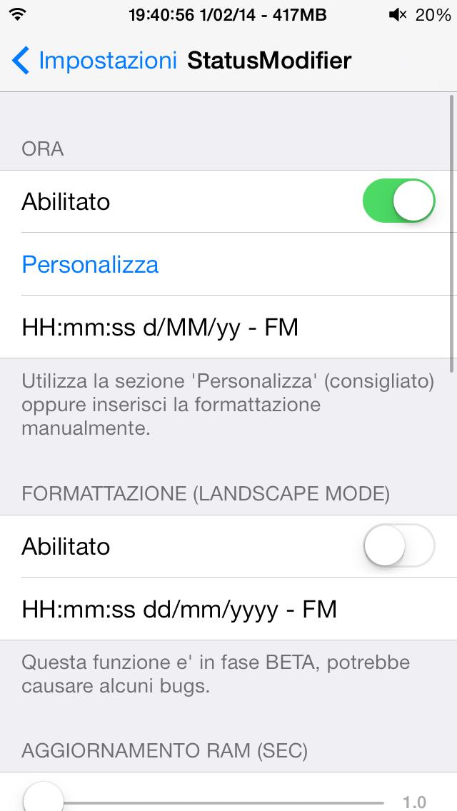 Abilitare StatusModifier