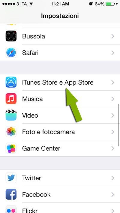 itunes store e app store