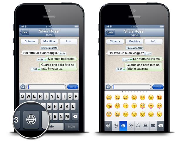 attivare emoji su iphone