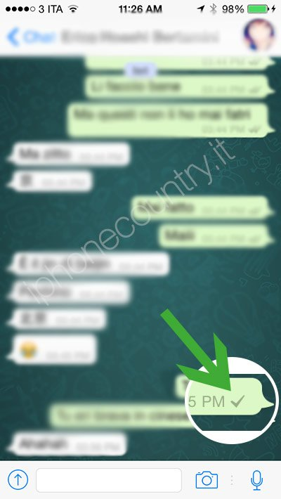 1 segno di spunto di WhatsApp