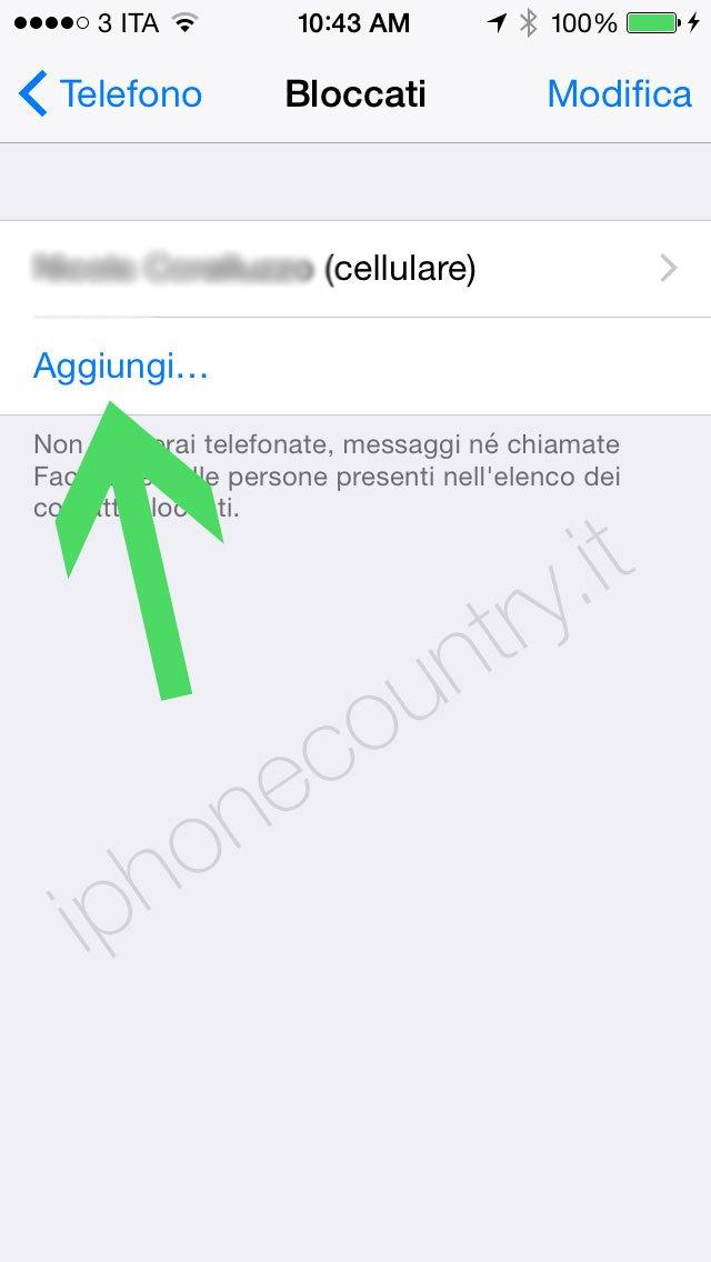 Bloccare contatto iPhone