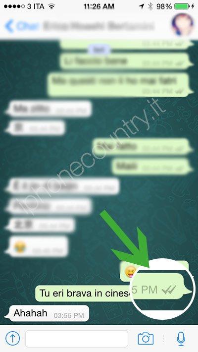 2 segni di spunta di WhatsApp