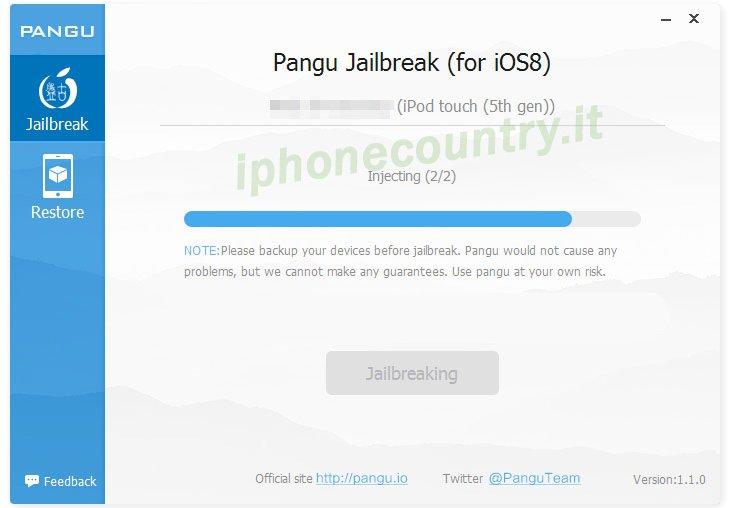 Jailbreak iOS 8.x - Guida