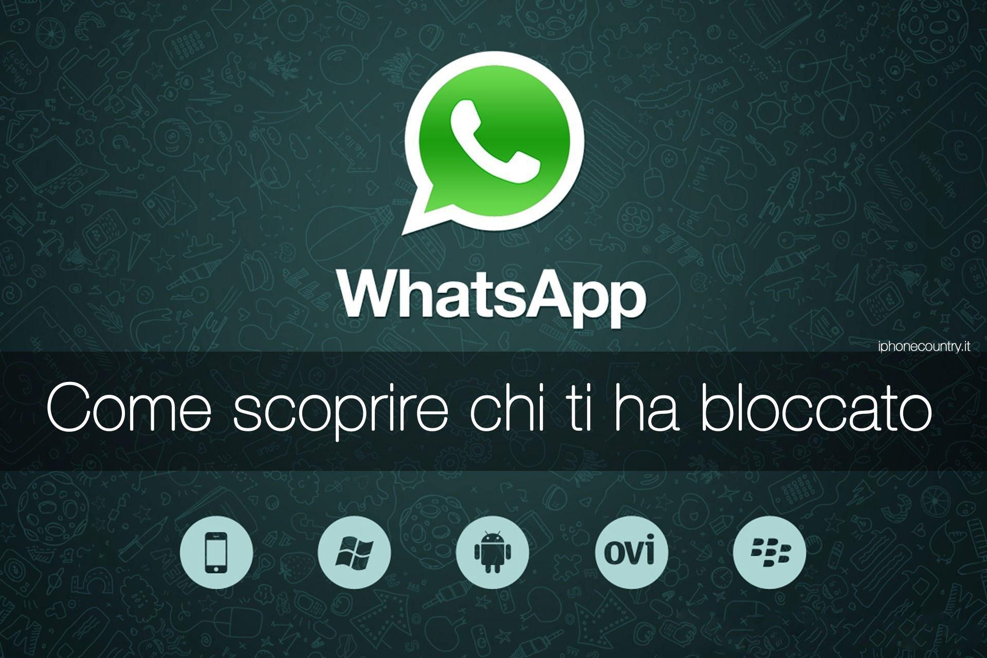 Contatti bloccati su WhatsApp