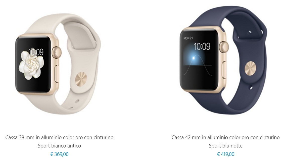Prezzi Apple Watch Sport