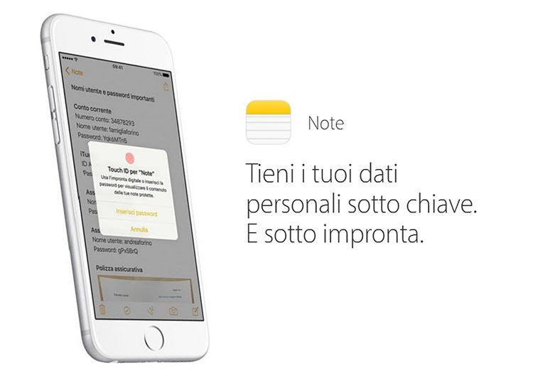 Note di iOS