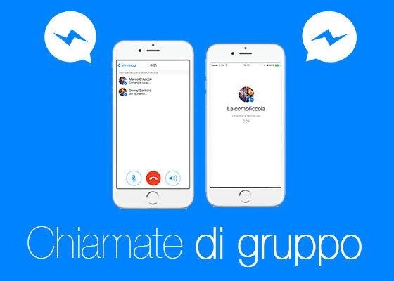 Chiamate di gruppo su Facebook Messenger