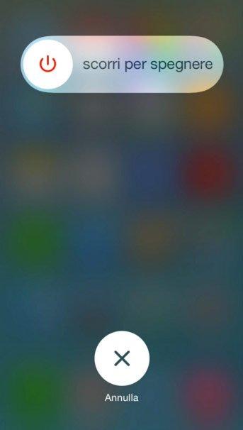 Spegnimento iPhone