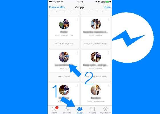 Selezionare gruppo di Facebook Messenger