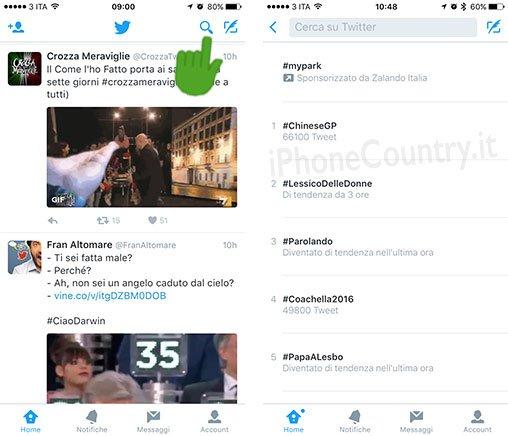 Trend del momento di Twitter