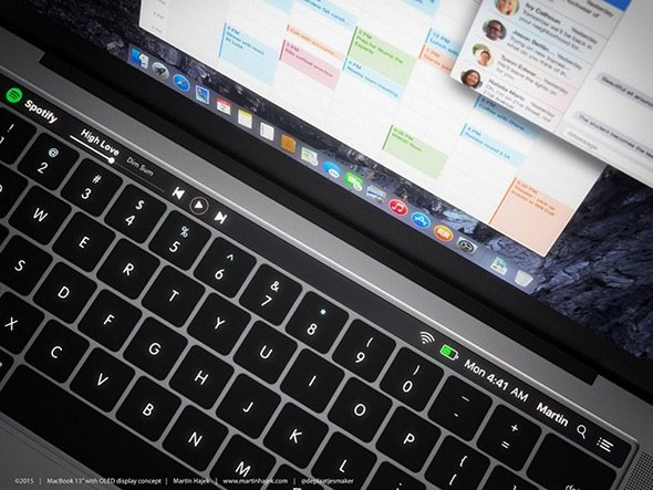 Barra OLED di MacBook Pro
