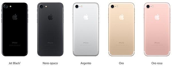 Colori di iPhone 7