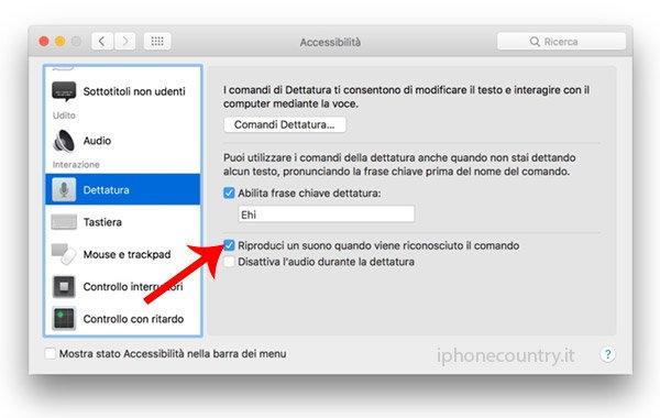 Attiva Ehi Siri su Mac