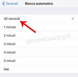 Blocco automatico iOS