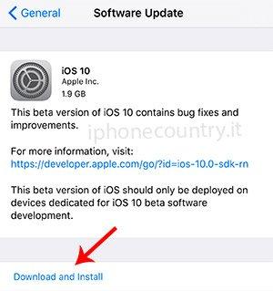 Aggiornamenti iOS OTA