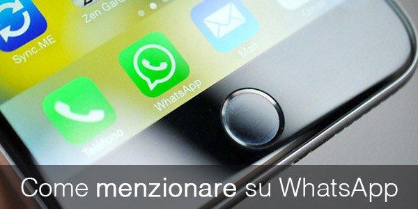 Come menzionare su WhatsApp