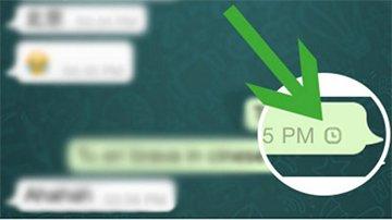 Orologio nei messaggi di WhatsApp