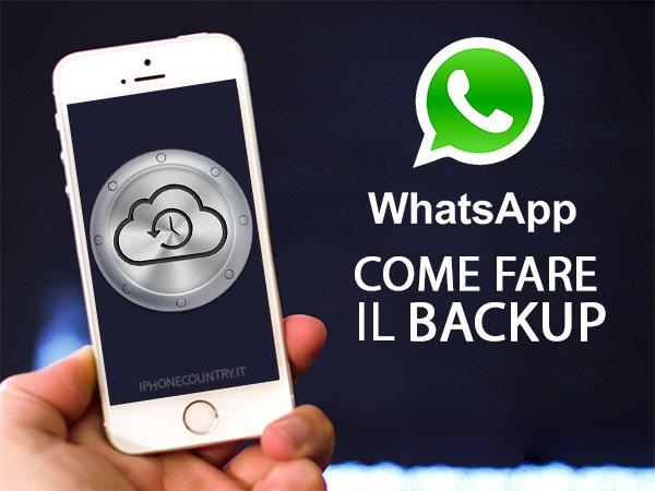 Fare backup su WhatsApp