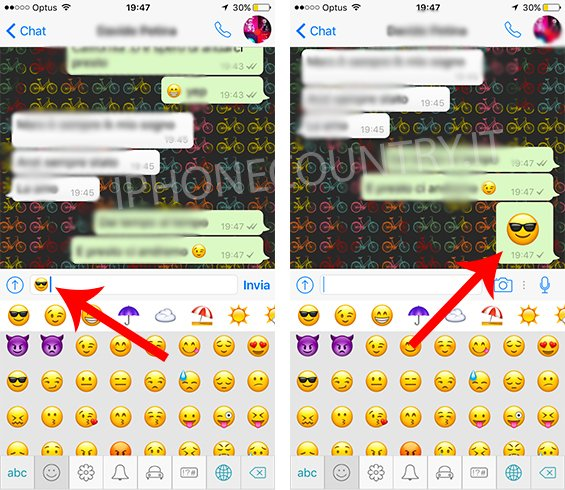 Emoticon grandi WhatsApp