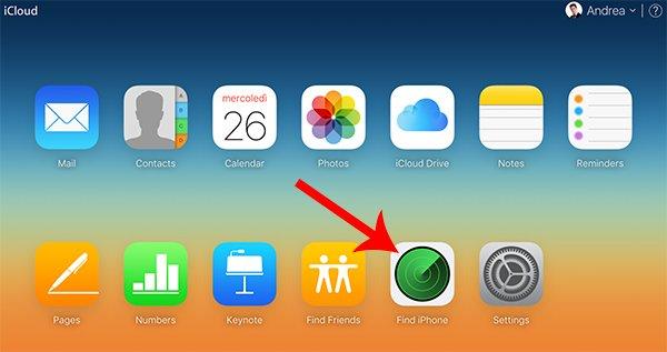 Trova il mio iPhone su iCloud