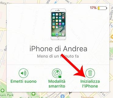 Inizializza iPhone