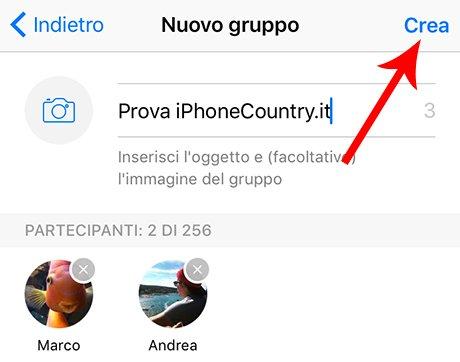 nome gruppo whatsapp