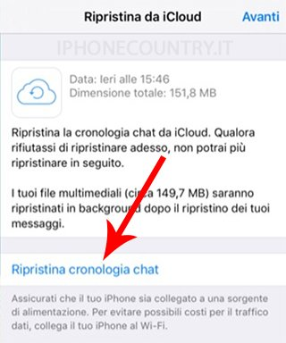 Ripristinare backup WhatsApp