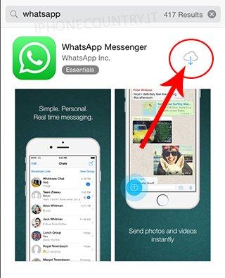 Scarica WhatsApp da App Store