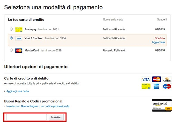 Amazon regala 10 euro di sconto su tutti i prodotti for Codici regalo amazon