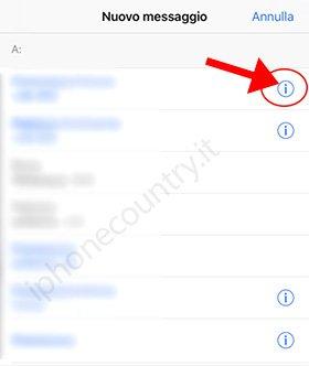 Contatti informazioni iPhone