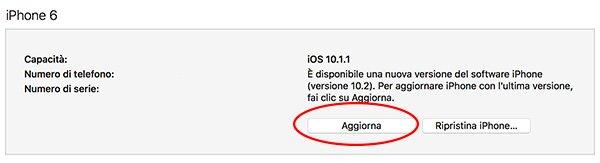 Aggiorna iOS 10.2