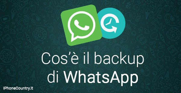 Cose Backup WhatsApp iPhone