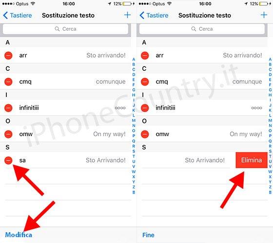 Eliminare Sto Arrivando su iOS