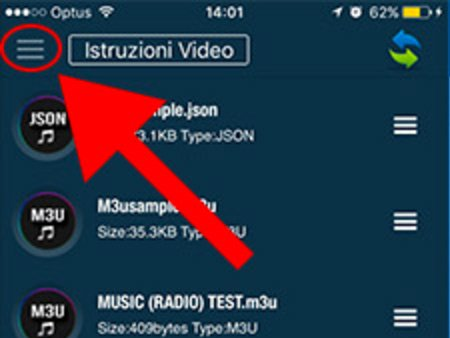 Menu GSE IPTV iOS