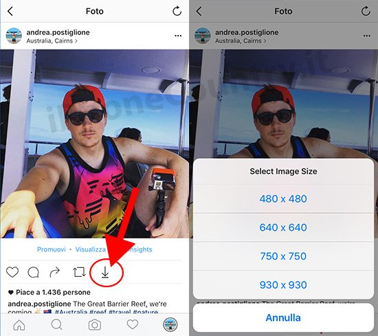 Scaricare foto Instagram