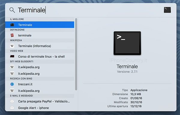 Terminale Mac