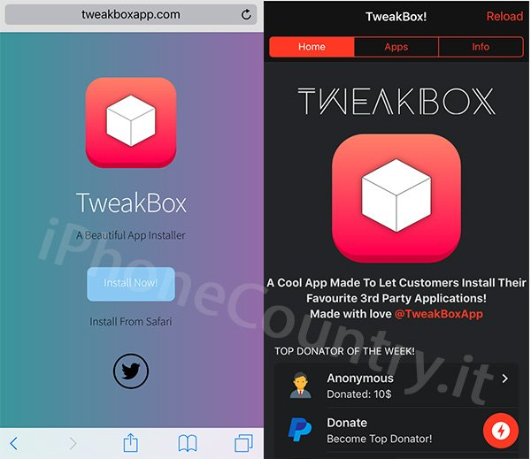 TweakBox per iPhone
