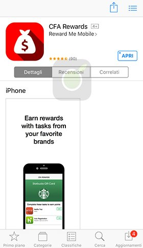 CFA Rewards App Store