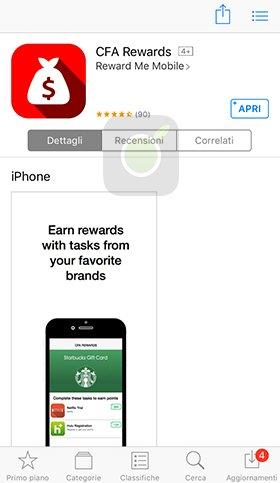 CFA Rewards App Store