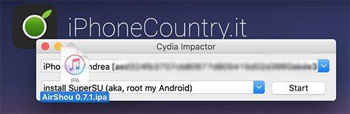 AirShou su Cydia Impactor