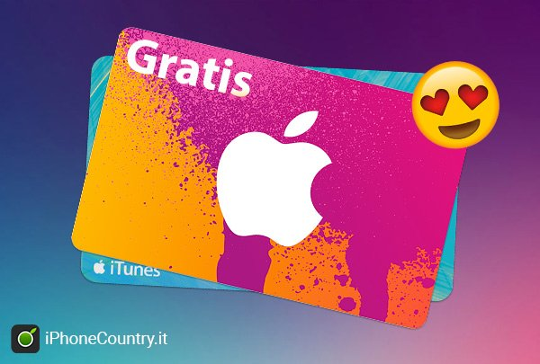 Carta regalo itunes gratis come ottenerla guida for Regalo tutto gratis