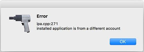 Fehler beim IPA. CPP 271 Cydia Impaktor