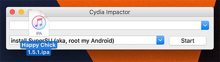 Happy Chick IPA su Cydia Impactor