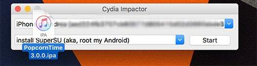 Popcorn Time IPA su Cydia Impactor