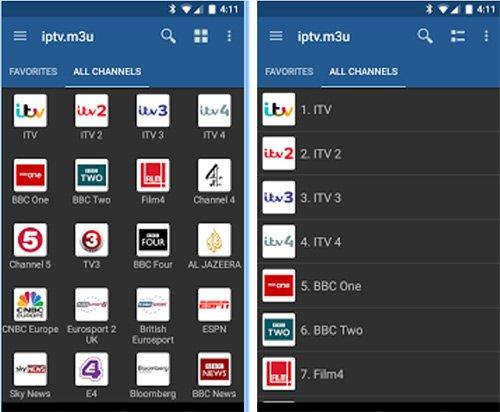 IPTV app per Android