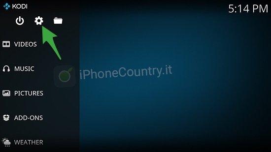Kodi impostazioni iOS