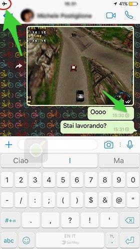 Messaggi offline su WhatsApp