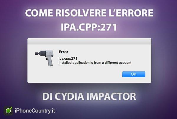 Risolvere problema IPA.CPP 271 Cydia Impactor