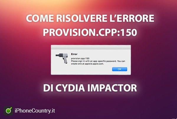 Risolvere problema Cydia Impactor